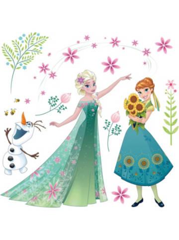 Komar Fenstersticker Disney Frozen Flower, 19-tlg.