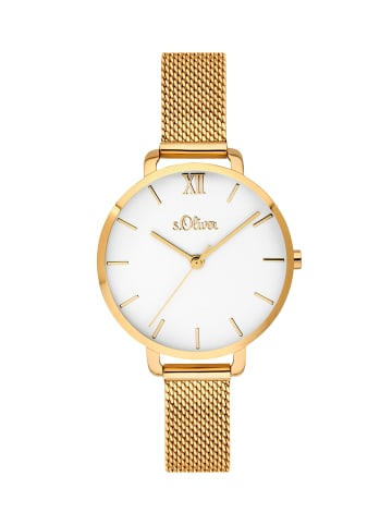 S.Oliver Time Armbanduhr in IP Gold