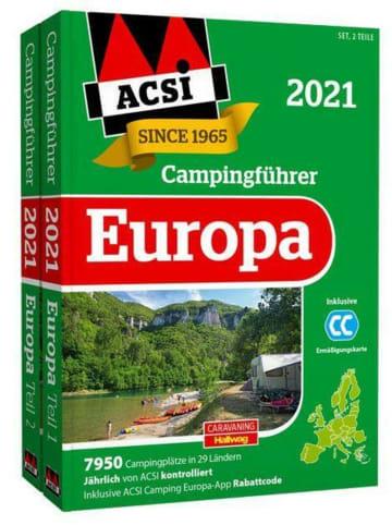 Hallwag ACSI Internationaler Campingführer Europa 2021 | in 2 Bänden inkl....