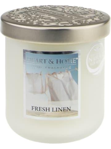 "HEART & HOME Kleine Duftkerze ""Fresh Linen"", 115g"