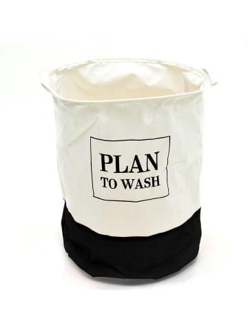 """Pink Papaya Wäschesack """" Plan To Wash """" in schwarz/weiß"""