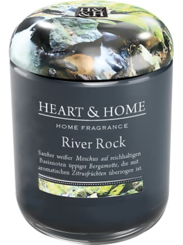 "HEART & HOME Kleine Duftkerze ""River Rock"", 115 g"