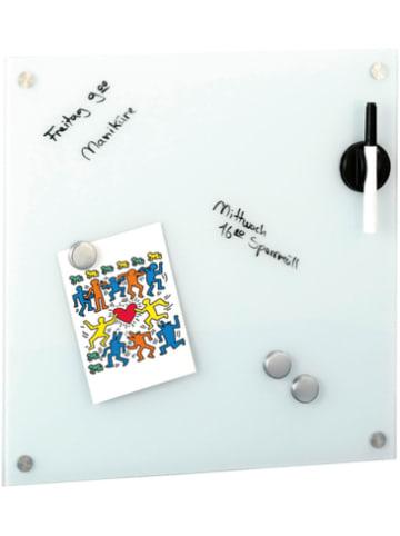 "Zeller Present Glas Memoboard Set ""Uni"" 40x40 cm"