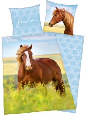Herding Kinder-Wendebettwäsche Pferd, Renforcé, 135 x 200 + 80 x 80 cm