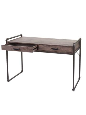 MCW Schreibtisch F58 im Industriedesign, Braun Wildeiche-Optik