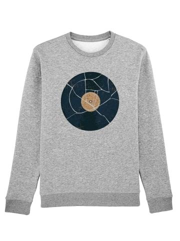 Wat? Apparel Sweatshirt Broken Vinyl in Grau meliert