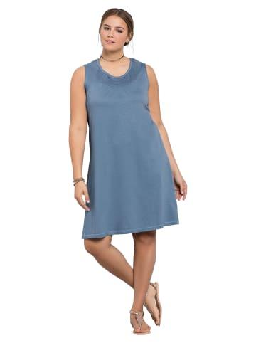 Sheego Shirtkleid in blau