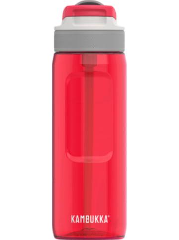 KAMBUKKA® Tritan-Trinkflasche LAGOON Spout Ruby, 750 ml, inkl. Trinkhalm