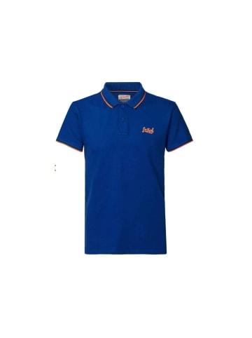 Petrol Poloshirt kurzarm in blau