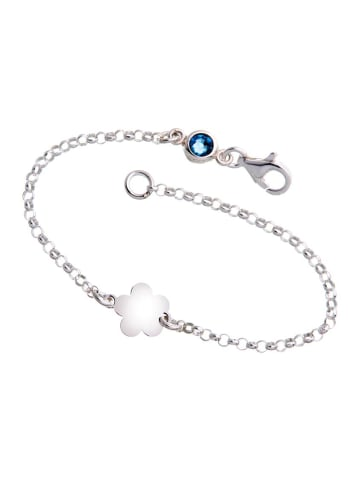 ChainMAGPIE 925 Silber Armband mit blauem Swarovski Kristall