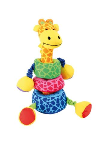 Small foot Steck-Giraffe in bunt
