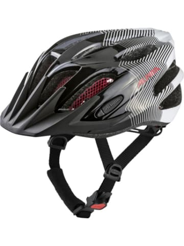 Alpina Fahrradhelm FB jr.black-white-red