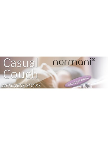 Normani 2 Paar Vollfrottee-Socken Casual Couch in Grau