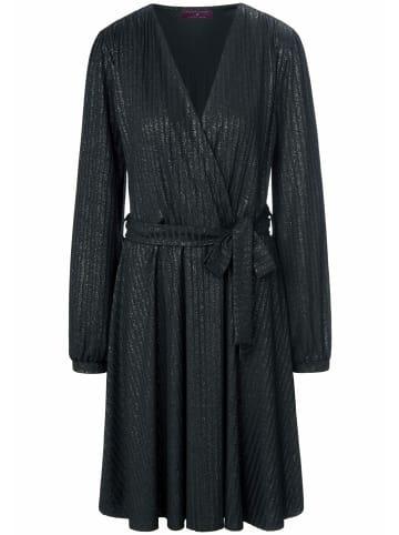 TALBOT RUNHOF X PETER HAHN Jerseykleid in Wickel-Optik in schwarz
