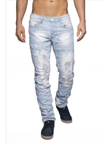 Jeansnet Jeans ID1426 HellTotenkopf Innenfutter in Hellblau