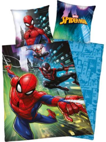 Herding Kinder-Wendebettwäsche Spider-Man, Renforcé, 135 x 200 + 80 x 80 cm