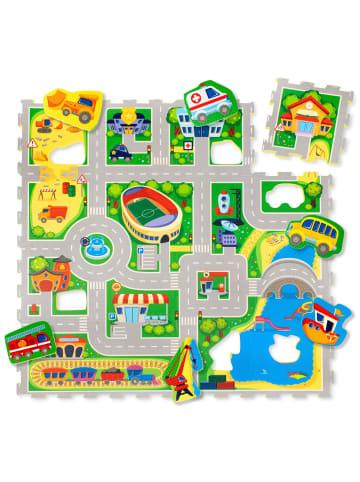 "Hakuna Matte Puzzlematte ""City"" in Bunt - 1,2m x 1,2m"