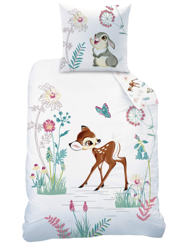 """Disney Mädchen Bettwäsche-Set """"Disney's Bambi"""" in Weiß / Bunt"""