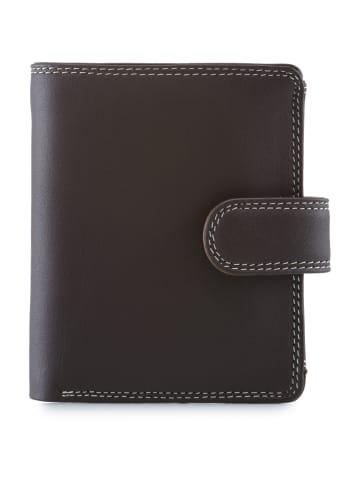 MYWALIT Tri Fold Tab Geldbörse Leder 9 cm in mocha