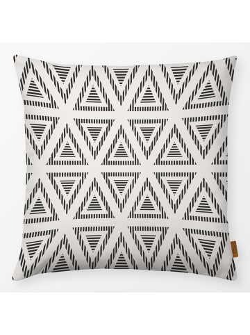 """Textilwerk.com Kissen """"Triangles 1"""" Schwarz / Weiss"""