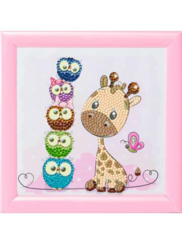 CRAFT Buddy Crystal Art Giraffe und Freunde, 16 x 16 cm Kristallkunst zum Einrahmen