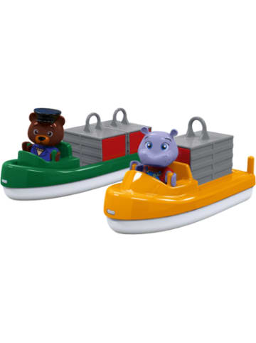 Aquaplay Bootset Container- & Transportboot inkl. 2 Figuren