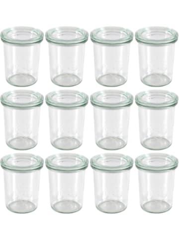 WECK 12er-Set Eingläser Sturzglas-Form 160ml, mitDeckel
