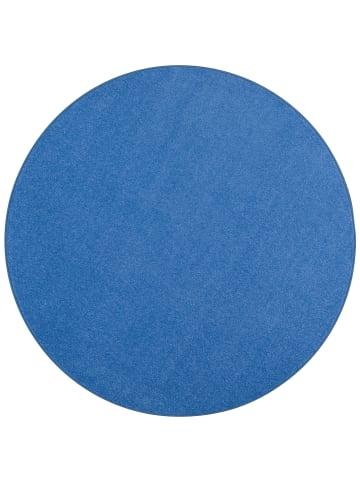 Snapstyle Trend Velours Teppich Joy Rund in Blau
