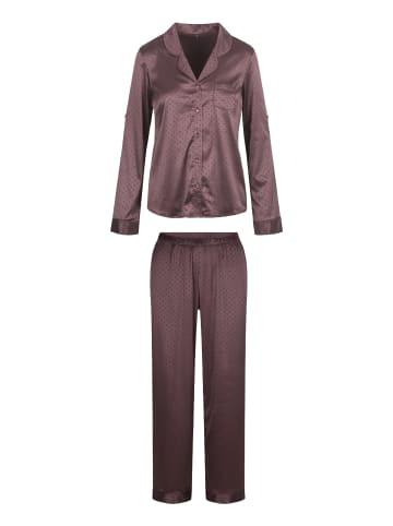 Linga Dore Pyjama set Satin in Violett