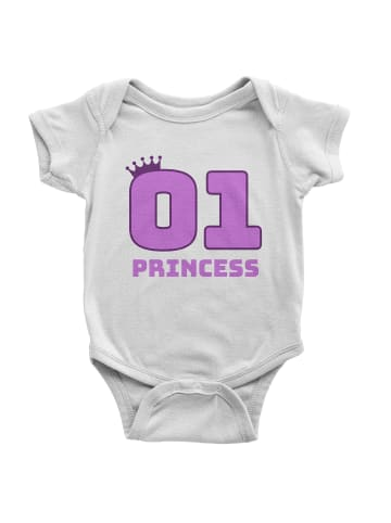 Idil Baby Baby Mädchen Body -Princess in Weiss