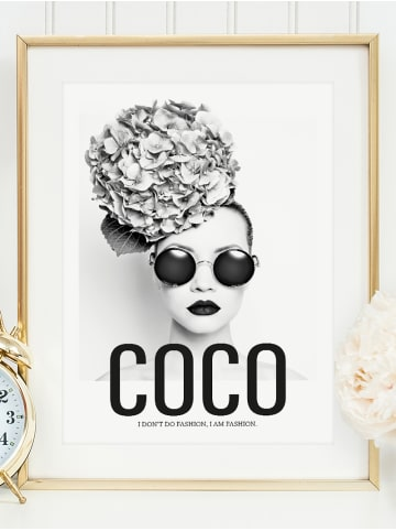 "Tales by Jen Poster / Kunstdruck ""Coco - I am fashion"" I Ohne Rahmen"