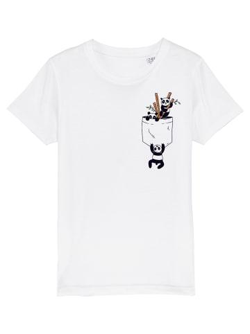 Wat? Apparel T-Shirt Pocket Pandas in Weiß