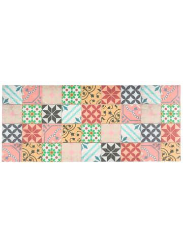Pergamon Vinyl Teppich Küchenläufer Evora Mosaik in Bunt