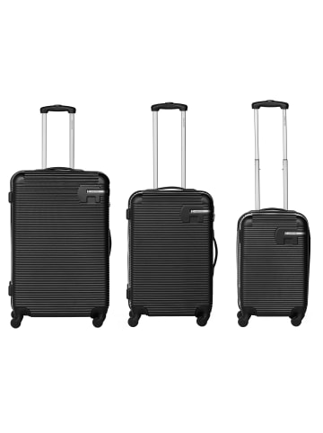Bannister New York Hudson Reisekoffer 3er-Set in Schwarz