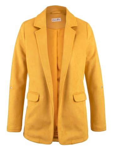 Dress In Blazer in Gelb