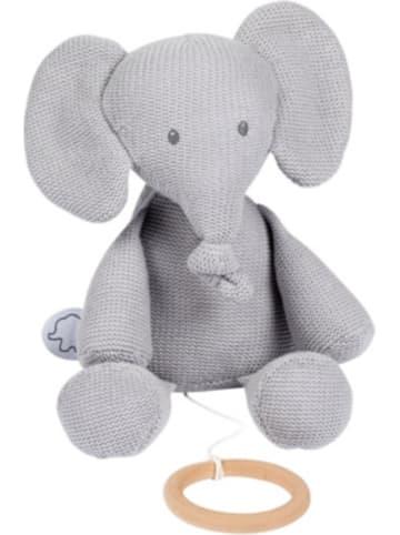 Nattou Spieluhr Strick - sitzender Elefant, grau