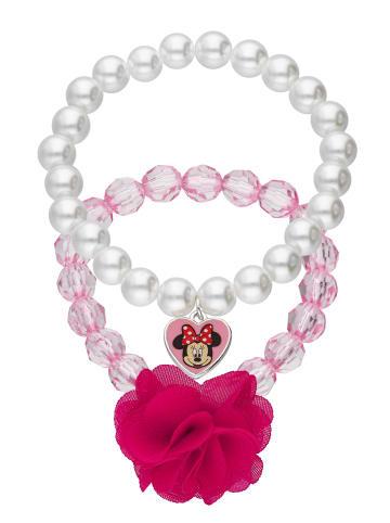Six Disney Set aus Statement-Armbändern mit Herz-Form in rosafarben