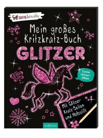 Ars edition Mein großes Kritzkratz-Buch Glitzer