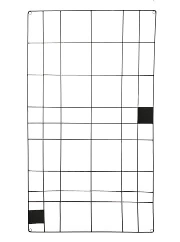 """Vtwonen Memo Board """"Wire Black"""" in Schwarz - 60x105cm"""
