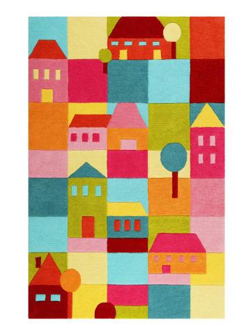 Smart Kids Teppich Poppy Town in multicolor