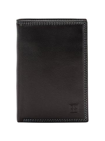 DuDu Geldbörse RFID Leder 9,5 cm in dunkelbraun