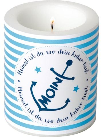 """IHR Ideal Home Range GmbH  Windlicht """"MOIN ANKER"""" in blue Ø9X10,5 cm"""