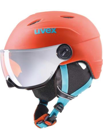 Uvex Skihelm jun.visor pro orange-petr met mt
