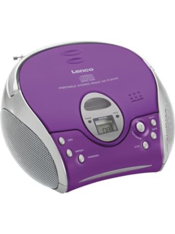 Lenco SCD-24 violett - Boombox CD-Player mit Radio und Kopfhöreranschluß
