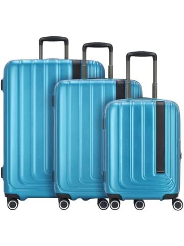 March15 Trading Beau Monde 4-Rollen Kofferset 3tlg. in omega blue metallic