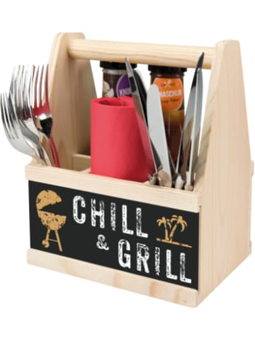 """Contento Besteck & Soßen Caddy """"Chill & Grill"""""""