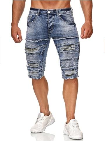 Leeyo Denim Bermuda Jeans Shorts in Camouflage-1