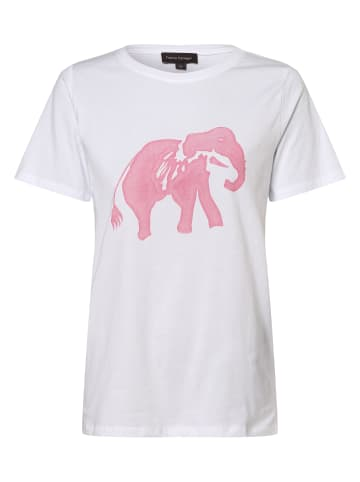 Franco Callegari T-Shirt in weiß rosa