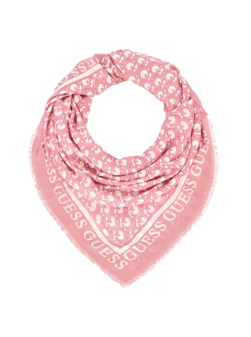 Guess Jacquard Scarf Tuch 135 cm in rose