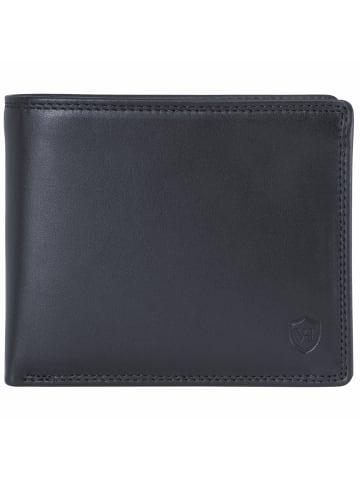 VON HEESEN Slim Wallet in schwarz (glatt)